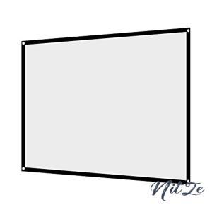 プロジェクター スクリーン 4:3 100インチ ポータブル 折り目がない 大きなサイズ 持ち運びやすい 壁掛け フック|nitzeshop