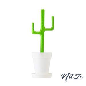 vigar(ビガール) フラワー パワー トイレ セット サボテン グリーン W12.5D11.5H39cm|nitzeshop