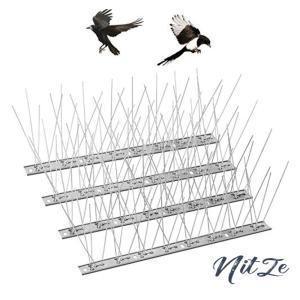 鳥よけ 鳩よけ ねこよけグッズ カラスよけ 33cm 10個セット 剣山 ステンレス製 全長33m 屋上 ベランダ nitzeshop