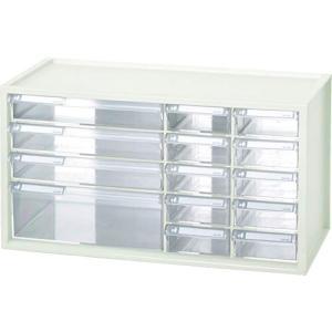 livinbox 3サイズ パーツキャビネット 工具箱 小物や雑貨収納 多目的収納 14引き出し-ホワイト nitzeshop