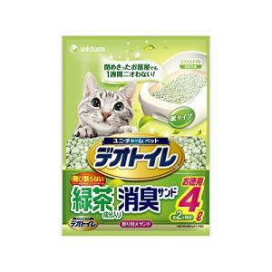 デオトイレ 1週間消臭・抗菌 飛び散らない緑茶成分入り・消臭サンド 4L|nitzeshop