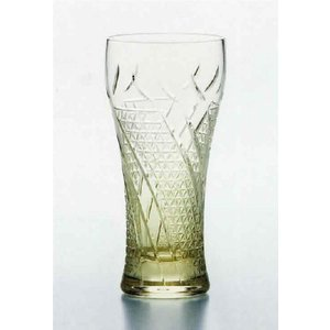 琥珀 切子・ビアーグラス (麦酒グラス)・ 「父の日」「敬老の日」「お誕生日」・・・のお祝いに!