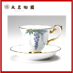 大倉陶園 碗皿ごよみ12ヶ月 藤(皐月) 碗皿(カップ&ソーサー) 52C/E034|niwa-company