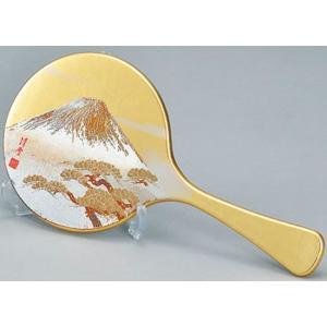 「世界文化遺産」に登録された縁起の良い富士山をモチーフにした手鏡です。 日本の伝統的な蒔絵の技術を用...