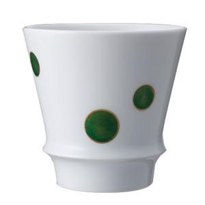 ●大きな緑のドット模様。見た目も楽しいカジュアルなグラスです。 ■うまい焼酎をもっとうまくのみたい♪...