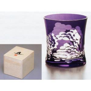 この焼酎グラスは「源氏雲(げんじぐも)」の文様です。 「源氏雲」源氏物語絵巻に雲がたなびく姿で使われ...
