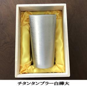 お歳暮 内祝い お返し タンブラーグラス 純チタン製二重タンブラー 燕HORIE 白樺(大)(シルバー)350cc|niwa-company