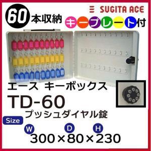 杉田エース キーボックス TD-60(60フック)キープレート付 業務用 携帯・固定兼用 プッシュボタン錠|niwanolifecore