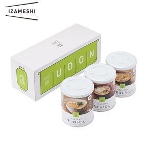 注文殺到につき納期2ヶ月から3ヶ月程度  非常食・保存食 IZAMESHI イザメシ うどん3缶セット 杉田エースACE|niwanolifecore