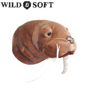 WILD & SOFT(ワイルド アンド ソフト) Animal Head アニマルヘッド セイウチ ブラウン 692-376|niwanolifecore