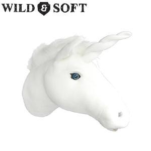 WILD & SOFT(ワイルド アンド ソフト) Animal Head アニマルヘッド ユニコーン ホワイト 953-900|niwanolifecore