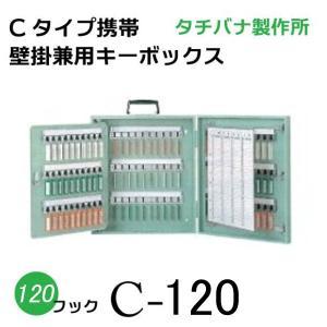 タチバナ 大型 キーボックス C-120 Cタイプ携帯壁掛式 グリーン 業務用|niwanolifecore