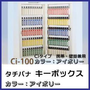 キーボックス Ci-100 Cタイプ携帯壁掛式 アイボリー 業務用|niwanolifecore