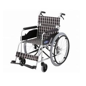 アルミ製自走用車いす NC-1CB 介助ブレーキ付