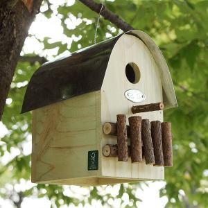 オーナメンタルバードハウス −ナチュラルグリーン− (鳥 野鳥 巣箱 鳥小屋 バードウォッチング 庭 ガーデニング 木製 かわいい)