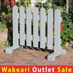 ピケットフェンス90cm −グレー− (わけありアウトレットセール対象商品)|niwazakka