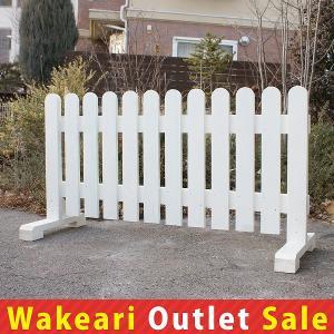丸型フェンス 幅150cm ホワイト 1個セット 亀裂があります  (わけありアウトレットセール対象商品)|niwazakka