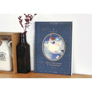 ふしぎの国のアリス「スプリングラインノート」(イラスト:キム・ミンジ) 美しい古典シリーズ(188×256mm)|niyantarose