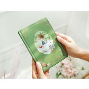万年型 2019 ハードカバー ダイアリー 不思議の国のアリス グリーン(イラスト:キム・ミンジ)ビンテージデザイン Classic Story Diary  輸入品|niyantarose