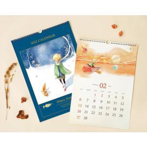 【2021年10月始まり】2022年 韓国版 カレンダー 星の王子さま ( 壁掛け / A3 )(キム・ミンジ:美しい古典シリーズ)|niyantarose