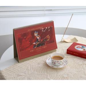 【2021年10月始まり+万年】2022年 韓国版 カレンダー 赤毛のアン (卓上/A4)(日付あり15か月+万年15か月) (キム・ジヒョク:美しい古典シリーズ) レッド|niyantarose