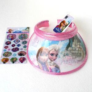 アナと雪の女王 サンバイザー 帽子 キャッスル きらきらステッカー1枚おまけつき  ピンク 韓国輸入品 niyantarose