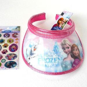 アナと雪の女王  帽子 サンバイザー オラフ きらきらステッカー1枚つき  ピンク 韓国輸入品 niyantarose