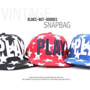 星とロゴ PLAY デザイン キャップ  帽子 男女共用|niyantarose