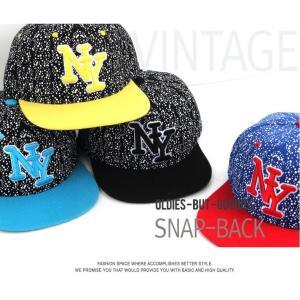 カラフル ニューヨーク NY  キャップ  帽子 男女共用|niyantarose