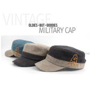 ベージュのバイカラー 軍帽  キャップ  帽子 男女共用|niyantarose