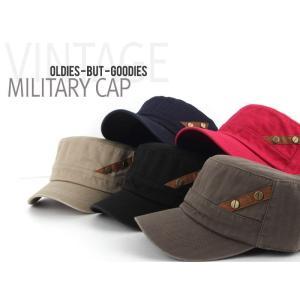 シンプルな ワンポイント 軍帽 キャップ  帽子 男女共用|niyantarose
