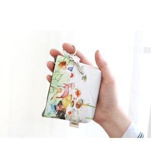 ふしぎの国のアリス コインケース 小銭入れ グリーン【直輸入品】(絵:キム・ミンジ)|niyantarose