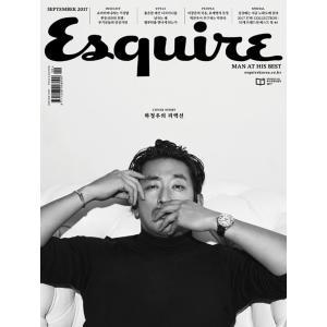韓国男性雑誌 Esquire(エスクァイア)2017年 9月号 (ハ・ジョンウ表紙)|niyantarose