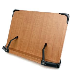 見やすい角度に14段階調節 木製ブックスタンド コンパクトサイズ(30×21cm) 折りたたみ式 多用途 書見台 筆記台 (メーカー直輸入品)|niyantarose