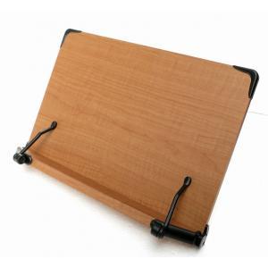値引き品(外箱破れ)2017新モデル 見やすい角度に14段階調節 木製ブックスタンド 大きめサイズ(40×26.5cm) 多用途 書見台 読書台 (メーカー直輸入品)|niyantarose