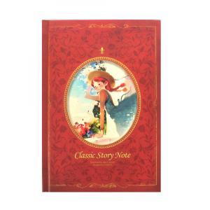 赤毛のアン ハードカバーノート 罫線 レッド(日記帳、メモ帳などにピッタリ!)|niyantarose