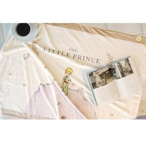 星の王子さま ひざかけ ミニブランケット イラスト フランネル(aladin オリジナルグッズ)|niyantarose