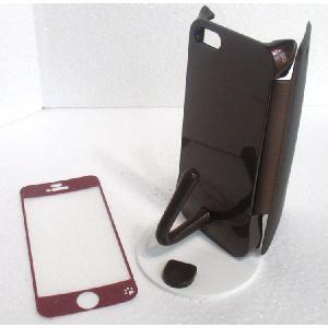 ねこのアイフォンケース iMau アイマウ  iPhone 5 / 5s  ブラウン|niyantarose