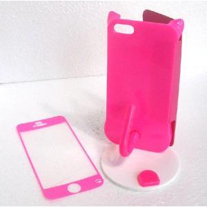 ねこのアイフォンケース iMau アイマウ  iPhone 5 / 5s  ホットピンク|niyantarose