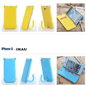 ねこのアイフォンケース iMau アイマウ  iPhone 5 / 5s  ホットピンク|niyantarose|05