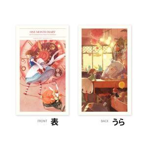 2017 不思議の国のアリス マンスリーダイアリー手帳 美しい古典シリーズ(万年型)キム・ミンジ|niyantarose