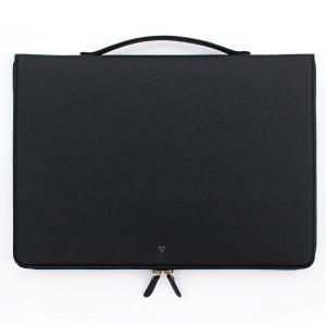 ハンドメイド THE BASIC プリズム ノートPC バッグ 手提げ付き 13インチ(355×250×30mm) 【PU合成皮革】 直輸入品 (ブラック) niyantarose