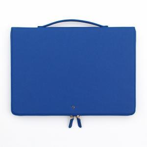 ハンドメイド THE BASIC プリズム ノートPC バッグ 手提げ付き 13インチ(355×250×30mm) 【PU合成皮革】 直輸入品 (ブルー) niyantarose