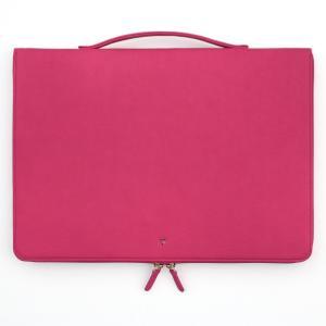 ハンドメイド THE BASIC プリズム ノートPC バッグ 手提げ付き 13インチ(355×250×30mm) 【PU合成皮革】 直輸入品 (ピンク) niyantarose