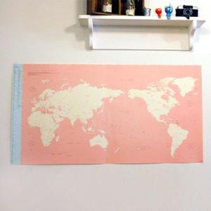 世界旅行地図 デコ・トラベル・ワールドマップ キャンディーピンク|niyantarose