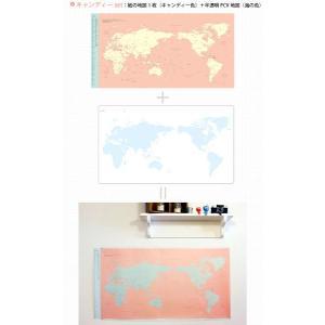 世界旅行地図 デコ・トラベル・ワールドマップ キャンディーピンク|niyantarose|02