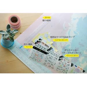 世界旅行地図 デコ・トラベル・ワールドマップ キャンディーピンク|niyantarose|04