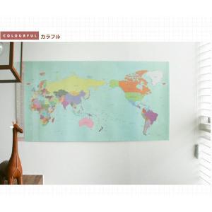 旅行世界地図 オリジナルデコ・トラベル・ワールドマップ カラフル|niyantarose