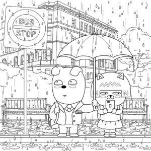 韓国のぬりえ本 カカオフレンズ ストーリー カ...の詳細画像5