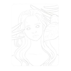 韓国語 ぬりえ本 『少女の時間 カラーリングブック - 視線を釘付け 魅力的な少女 40』 著:イ・ヒョンミ|niyantarose|16